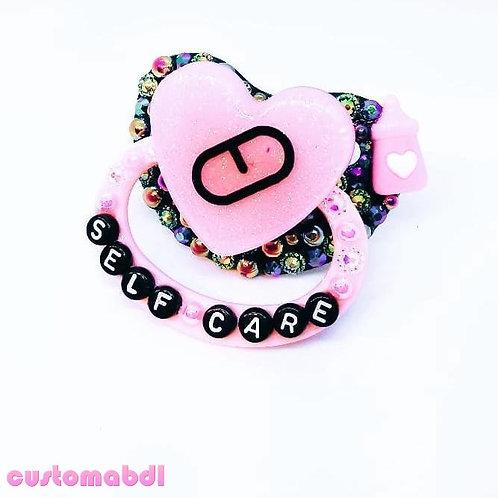 Self Care Heart - Black & Pink