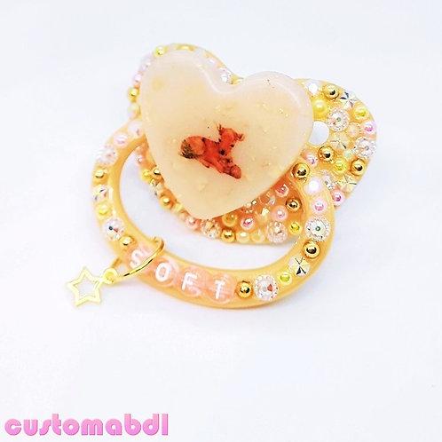 Soft Fawn Heart - Tan, Gold, Pink & Yellow - Cottagecore - Deer - Light Brown