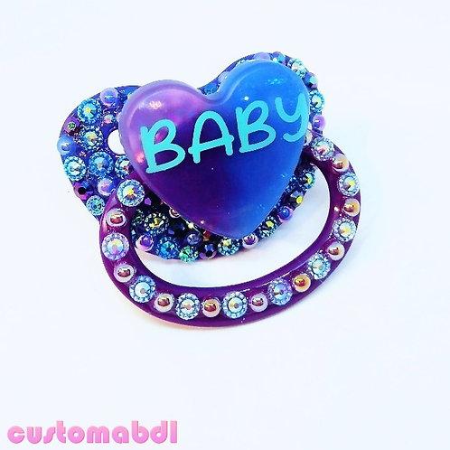 Baby Heart - Royal Blue & Purple