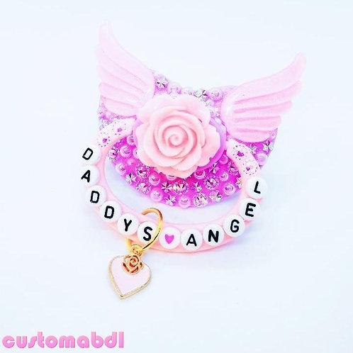 D's Angel La Fleur  - Lavender & Pink - Wings, Rose, Floral, Flower
