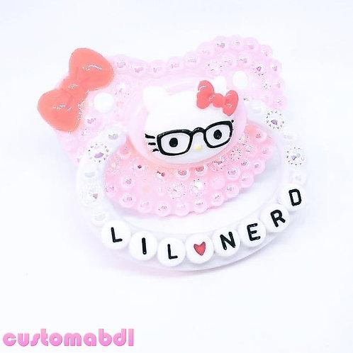 Lil Nerd HK - Pink, White & Red
