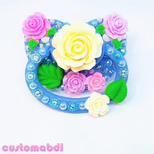 Rose Bouquet - Baby Blue, White, Pink, Lavender & Green