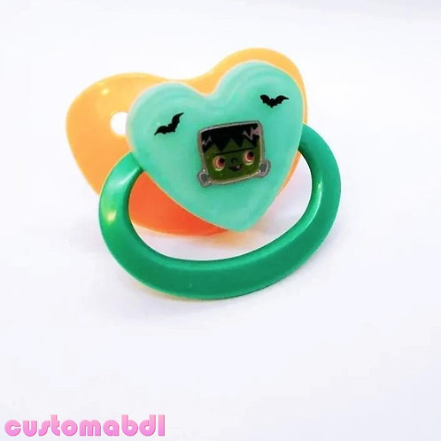 Simple Monster Heart - Orange & Teal