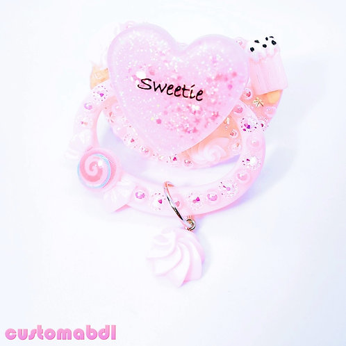 Sweetie Heart w/Charm - Pink - Ice Cream, Candy