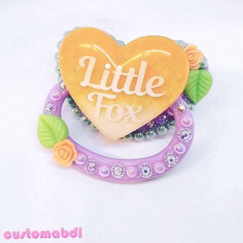 Little Fox Heart - Lavender, Mint Green, Orange & White