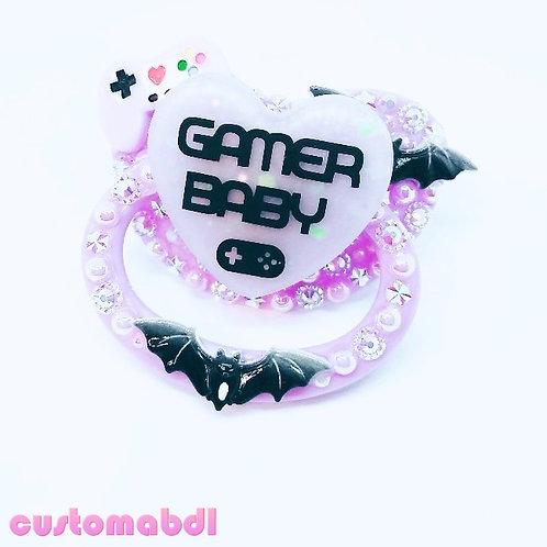 Spooky Gamer Baby - Lavender & Black
