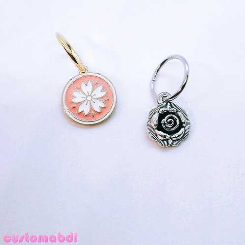 Loop Charm - Flower - Rose - Sakura