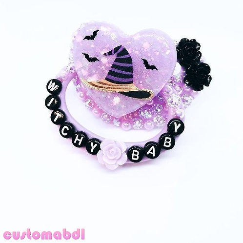 Witchy Baby Heart - Lavender & Black