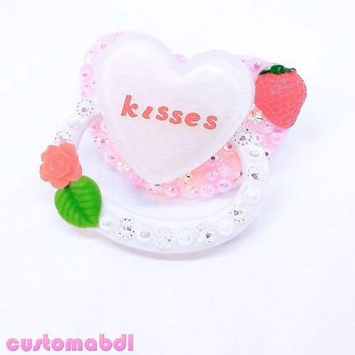Strawberry Kisses - White, Pink, Red & Green