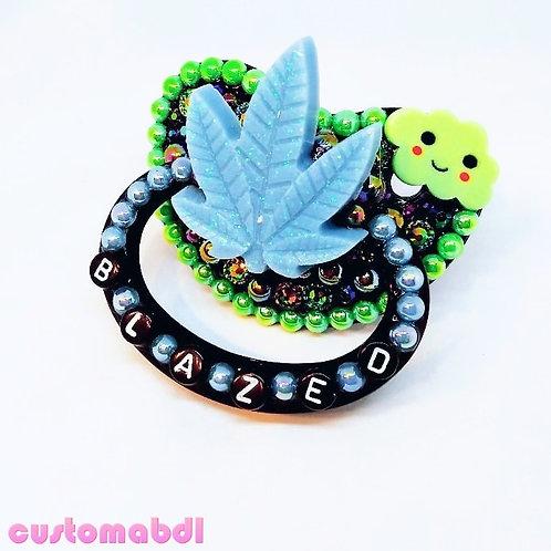 B Leaf - Black, Baby Blue & Green