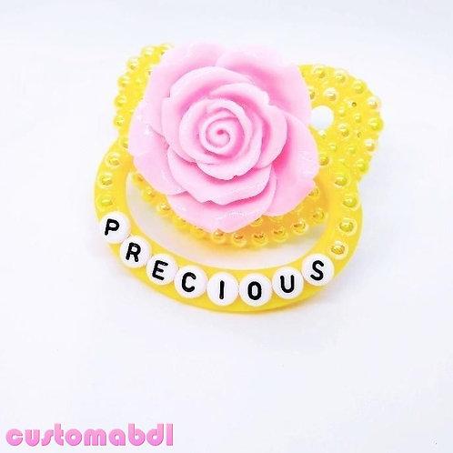 Precious La Fleur - Yellow & Pink - Rose - Flower - Floral