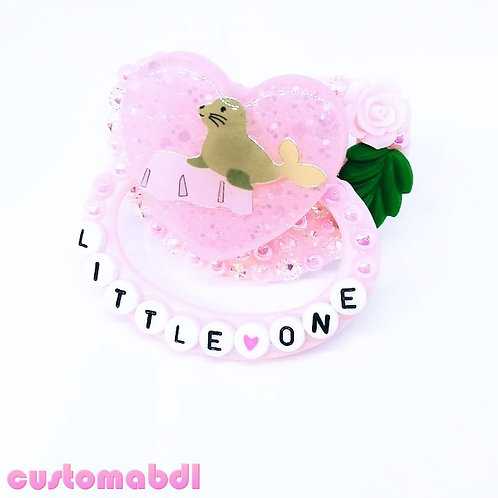 Little One - Seal - Pink & Green