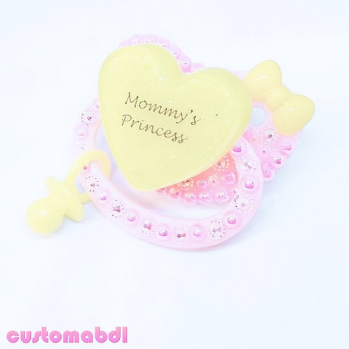 M's Princess w/Charm - Pink & Yellow