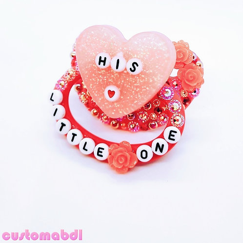 His Little One Heart - Red & Pink