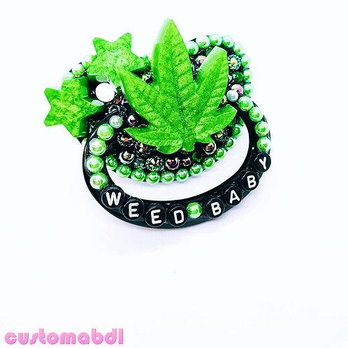 W Baby Leaf - Black & Green - Stars