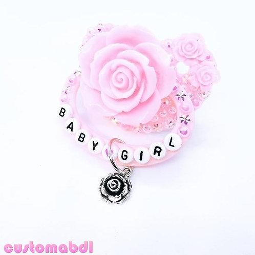 Baby Girl La Fleur w/Charm - Choose Any Color