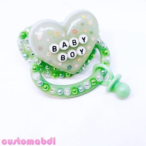 Baby Boy w/Charm - Green