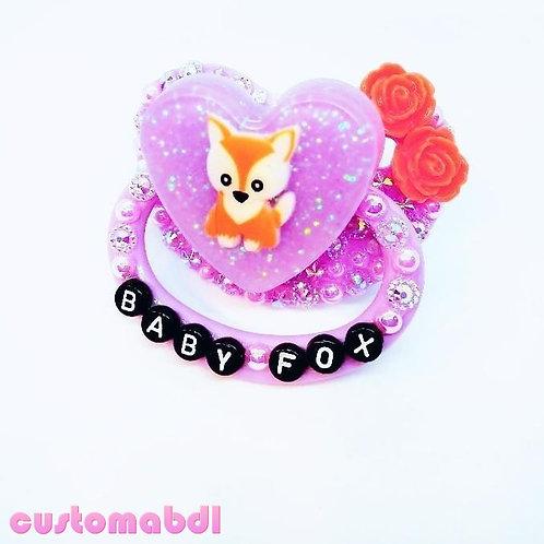 Baby Fox Heart - Lavender & Orange