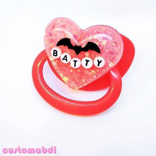 Simple Batty - Red & Dark Pink
