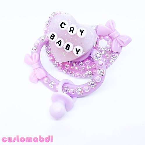 Cry Baby Heart w/Charm - Lavender