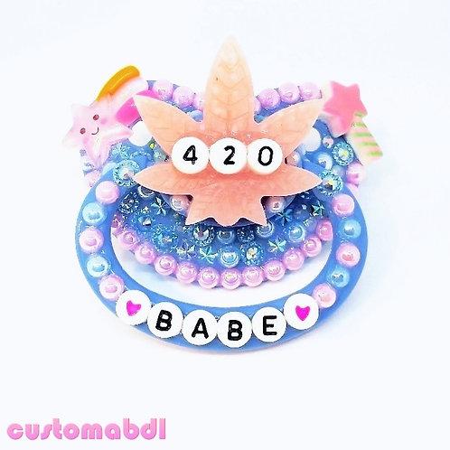 Babe Leaf - Baby Blue & Pink