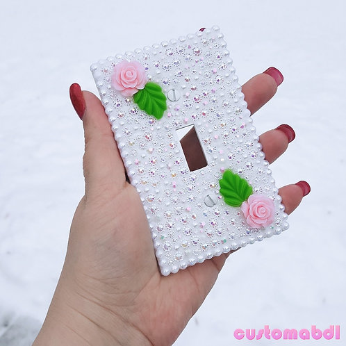 Rose Lightswitch Plate