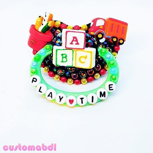 Play Time ABC Blocks, Pencils & Truck - Black, Green, Red & Yellow