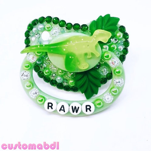 Rawr Dino Leaves - Green