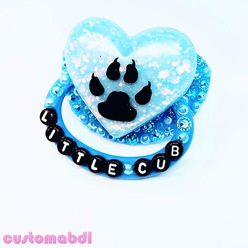 Little Cub Heart - Baby Blue & Black