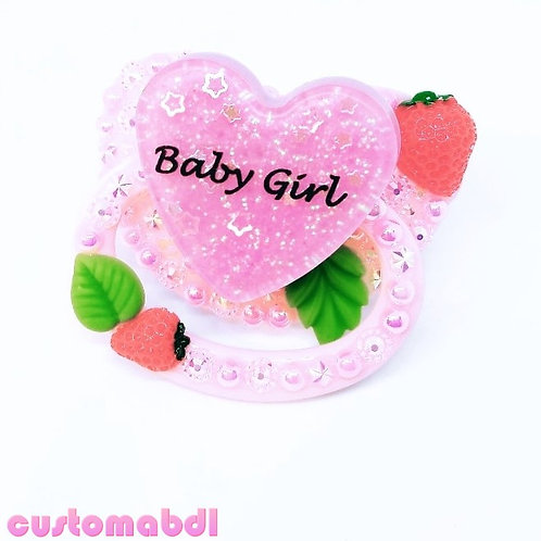 Strawberry Baby Girl - Pink, Red & Green