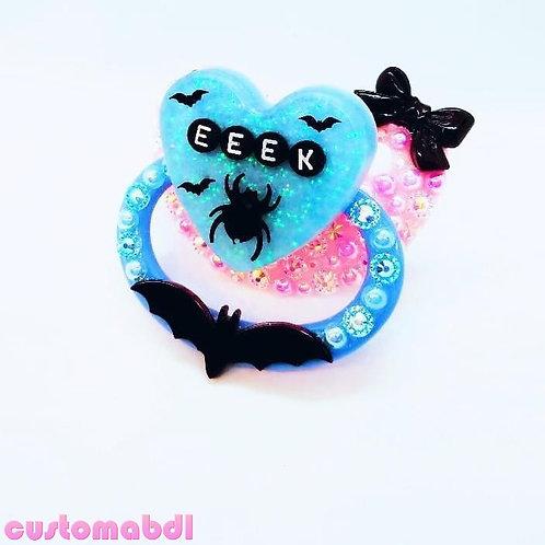 Eeek Spider Heart - Pink & Baby Blue - Bat