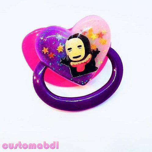 Simple Kawaii Heart - Fuschia & Purple