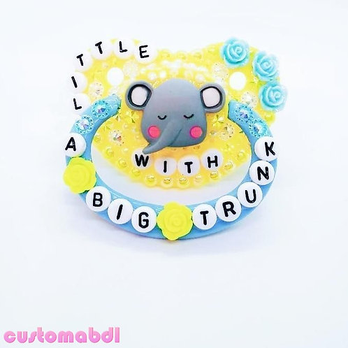 Little With A BIG Trunk Elephant - Yellow & Baby Blue