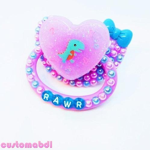 Rawr Dino Heart - Lavender & Baby Blue