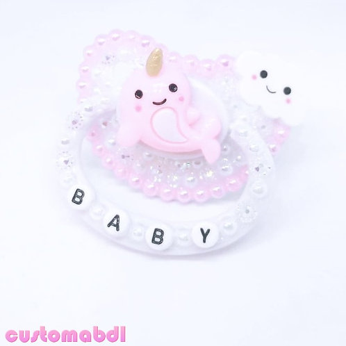 Baby Narwhal - White & Pink