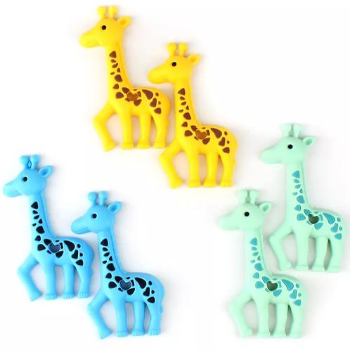 Silicone Teether - Giraffe - Yellow