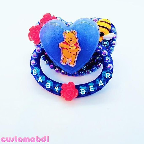 Baby Bear Heart - Royal Blue, Red & Yellow - Bee