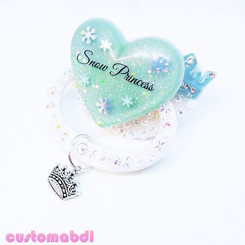Snow Princess w/Charm - White & Baby Blue