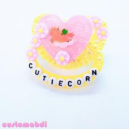 Cutiecorn Unicorn Heart - Yellow & Pink