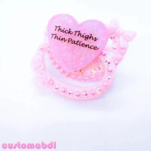 Thick Thighs Thin Patience Heart - Pink
