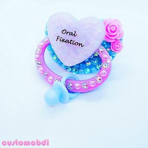 O Fix Heart w/Charm - Baby Blue & Lavender