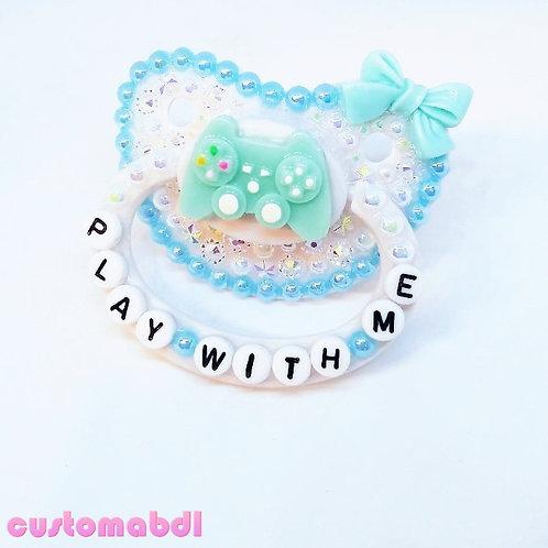 PWM Gamer - White & Baby Blue