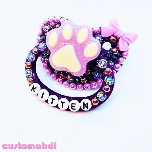 Kitten Paw - Purple & Lavender - Bow - Cat