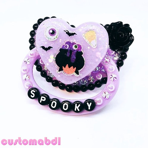 Spooky Cauldron - Lavender & Black