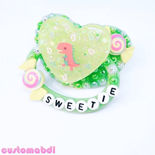 Dino Sweetie - Green, Yellow & Red