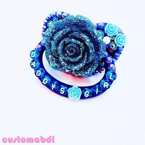 D's Girl La Fleur - Royal Blue & Baby Blue - Flower, Rose, Floral