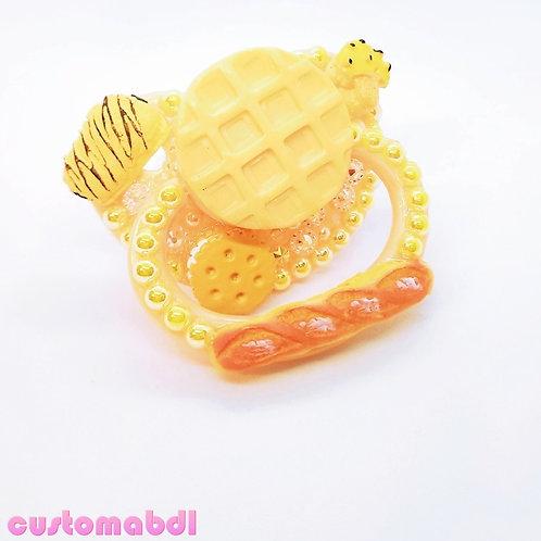 Waffles & Bread - Tan & Yellow - Light Brown