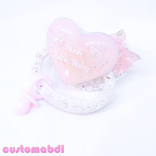 Hush Little Baby w/Charm - White & Pink