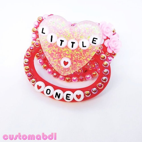 Little One Heart - Red & Pink
