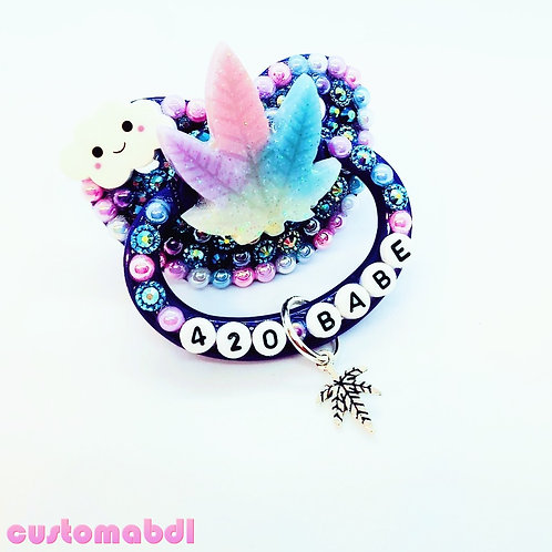 Babe Leaf w/Charm - Royal Blue, Pink, Lavender, Baby Blue & White